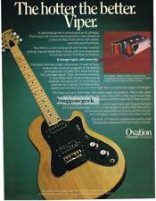 1978 OVATION Viper Electric Guitar Vtg Print Ad