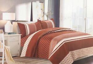 Ethnic Stripes Print Luxury Duvet Cover Bedding Set with Pillowcases Brown/Cream