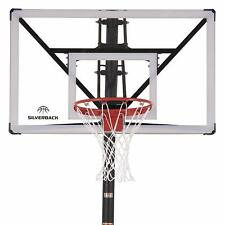 Silverback In-Ground Sports Basketball Hoop with Adjustable-Height Backboard