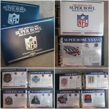 Superbowl Football NFL Patch Collection 2 Binder Books 1967-2014 Stats Patches