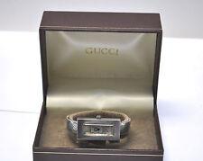 Auth. 70's. Gucci Sterling Silver Ladies Cuff Bracelet Manual wind GG Logo Watch