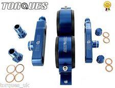 Twin bosch 044 pompe à carburant billette aluminium kit de montage sans pompes-bleu