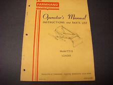 Farmhand Operators Manual,Instruction/Parts List,Model F21-B,Loader,1PD121-267