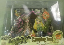 "BRATZ ADVENTURE GIRLZ CAMPING TENT ""RARE"" PLUS 2 ADVENTURE GIRLS DOLLS !"