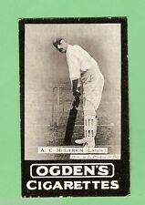 OGDENS CRICKET TAB CIGARETTE CARD 1901 A SERIES #138  A.C. McLAREN (LANCS)