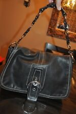 Coach Black Leather Shoulder Business Office Handbag 10582