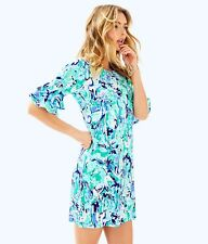 ffee702a604de LILLY PULITZER LULA DRESS Tropical Turquoise Elephant Appeal SML