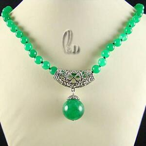Au Seller Chic 16mm huge Natural Malay Jade pendant Necklace 010892