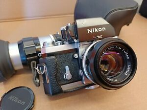 Nikon F Photomic FTN 35mm Camera  w/ 50mm & 135mm Lenses. Works / With issue.