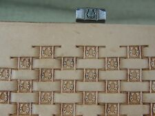 James Linnell - Horseshoe Basket Weave Stamp (Leather Stamping Tool)