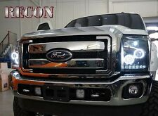 Recon SMOKED Projector Headlights Ford Superduty 2011-2016 # 264272BKCC