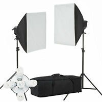 2000W Softbox Light Kit Photo Studio Video Photography Lighting Stand Continuous