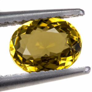 Tourmaline 1.00ct. An extremely clean yellow gem. Oval cut with excellent polish