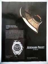 PUBLICITE-ADVERTISING :  AUDEMARS PIGUET Royal Oak Offshore  2014 Montres