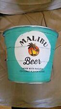 malibu beer beer bucket with red stripe bottle opener..free shipping