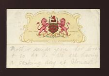 Gloucestershire Glos GLOUCESTER City Arms Heraldic PPC 1905 nice postmark