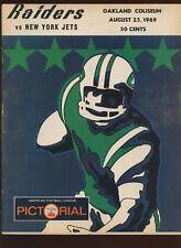 August 25 1969 AFL Program New York Jets at Oakland Raiders VGEX