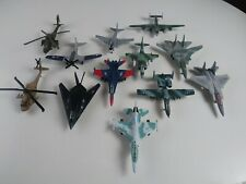Lot of 12 Diecast Airplanes Fighter Jet Aircraft Military Planes Maisto