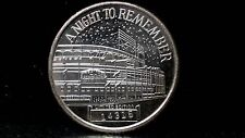 Chicago Cubs Night To Remember 8-8-88 Wrigley First Night Game 1 Oz Silver Round
