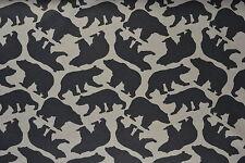 Black Bears Flannelette Fabric 108cm Wide (per metre)