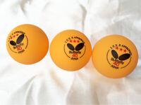 3piezas 40 mm mariposa 3 estrellas pelotas de ping pong pelotas de tenis de mesa