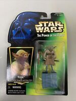 "Master Yoda 2"" Action Figure Star Wars POF Kenner 1997 Sealed Halo"