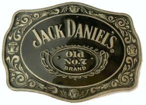 Vtg Jack Daniels Whiskey Belt Buckle Advertising Can Bottle Booze Brewery Men's