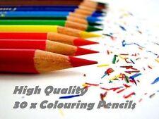 30 X Colorante Lápices Escuela Papelería Arte Arte clase Niños Diseño Pack Set