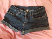 Dark blue denim hotpants shorts size 6