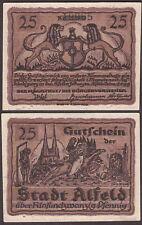 Notgeld ALFELD Niedersachsen 25 Pf 18.6.1919 kassenfrisch, Tieste A 4.3