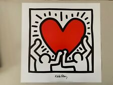 KEITH HARING, 'Untitled,1988' .AUTHENTIC LICENSED 1990's ART PRINT