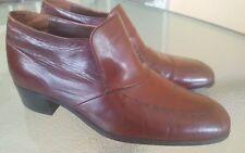 Vtg Florsheim Designer Collection Brown Leather Slip On Fashion Ankle Boots Sz8M