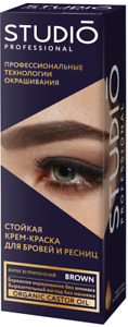 Studio Permanent Professional Color Cream Paint Tint Dye Eyelashes Eyebrow
