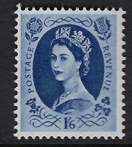GB WILDING:1956 St Edward Crown 1/6d grey-blue  SG556 MNH