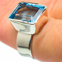 Blue Topaz 925 Sterling Silver Ring Size 6.75 Ana Co Jewelry R28909F