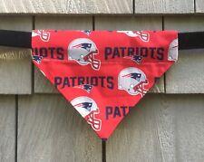Dog Bandana - Dog Clothes - New England Patriots - Over the Collar - Size Medium