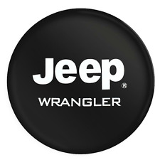 Spare Car Tire Cover Camper Wheel Care R16 PU Leather With WRANGLER White Logo