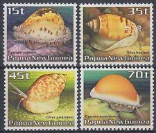 Papua-Neuguinea 1986 ** Mi.516/19 Meeresschnecken Marine snails [sq6012]
