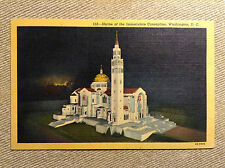Shrine Immaculate Conception Washington DC Vintage Postcard Unused Linen
