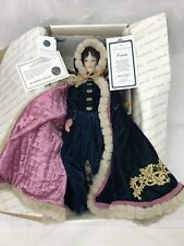 "Vtg Dr Zhivago Lara 20"" Porcelain Doll Signed, Numbered Purple Velvet Dress Cape"
