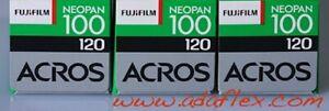 5x ROLL-FILM 120 NOIR & BLANC 3x FUJI NEOPAN ACROS + 2x ILFORD HP5+ 120 ROLLFILM