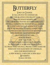 BUTTERFLY Parchment Page for Book of Shadows, Altar!