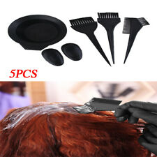 5Pcs Hair Tint Brush Color Dye Comb Kit Brushes Bowl Mixing Colouring Tool Set