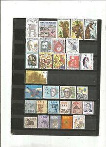 30 timbres SLOVAQUIE      LOT  11112020  ROA 555