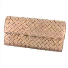 Bottega Veneta Wallet Purse Intrecciato Brown Woman unisex Authentic Used T6877