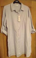 M&S Ladies Cotton Stripe Nightshirt Nightdress, Size 20, Long Sleeved, BNWT