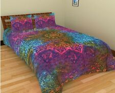Indian Star Mandala Reversible Bedding Duvet Doona Cover Set Comforter Cover Set