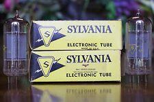 Pair Sylvania 7868 NOS / NIB 1970's Power Pentode Vacuum Tubes (MATCHED)