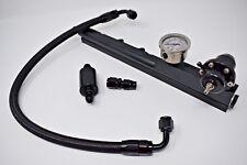 Fuel Pressure Regulator+Gauge+Rail+Line B16 B18 B20 Si LS GSR B-Series Honda FPR