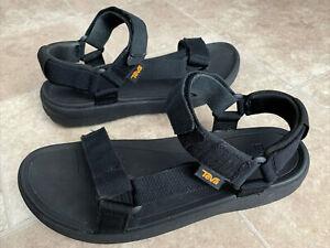 Teva Style 101515G Black Adjustable Straps Hiking Sport Sandals Men's Size 10